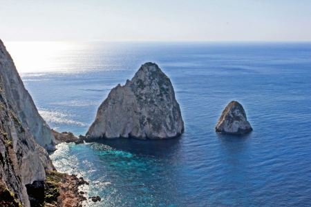Free Beautiful view on the Mizithres Rocks from the top of Cape Keri