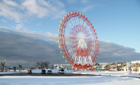 Free Ferris wheel in amusement park