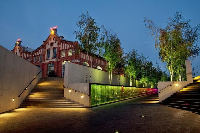 Free lingen germany building dusk evening lights