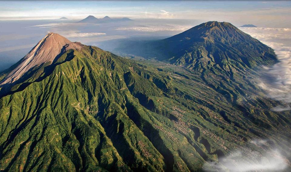 Free Volcanoes of Bromo National Park, Java, Indonesia