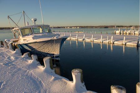 Free Docked boat at a lake