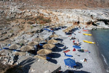 Free Marmara Beach island of Crete, Greece
