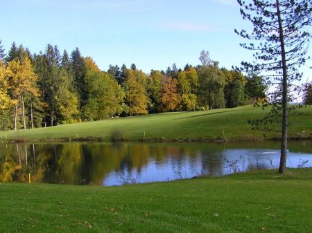 Free Golf course with gorgeous green and pond