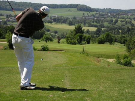 Free Playing a man on the golf course