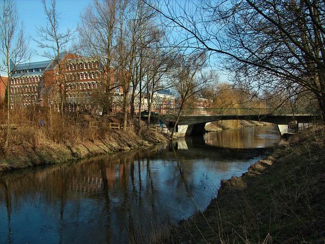 Free travebruecke bridge building bad oldesloe germany