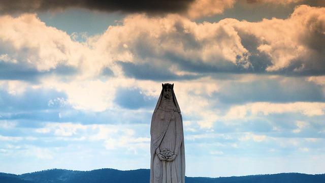 Free statue back light clouds sun outlook light