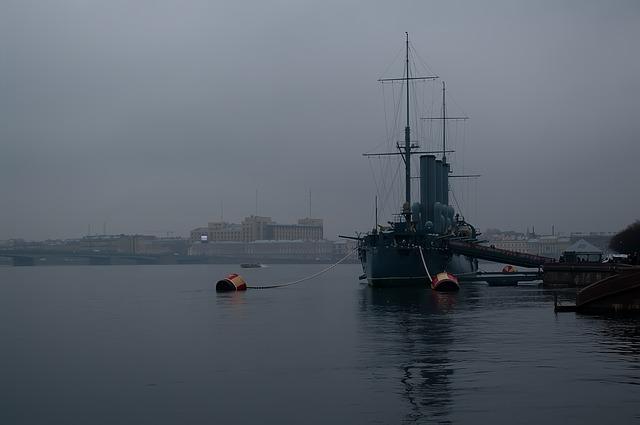 Free st petersburg russia neva fog twilight cruiser