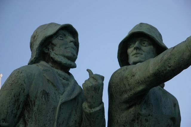 Free the fishermen sculpture downtown sculptures