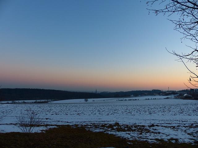 Free wintry swabian alb ulm ulm cathedral landscape