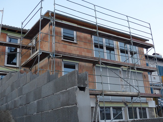 Free site house construction build scaffold home shell