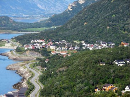 Free Coastal road in Norway leading to Bodo