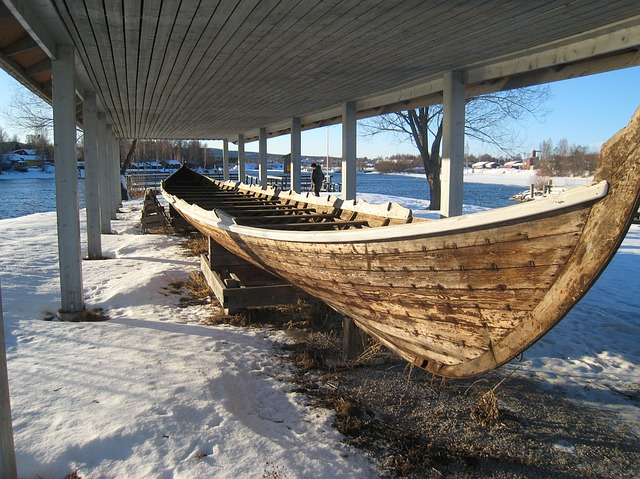 Free sweden boat ship shed storage winter snow nature