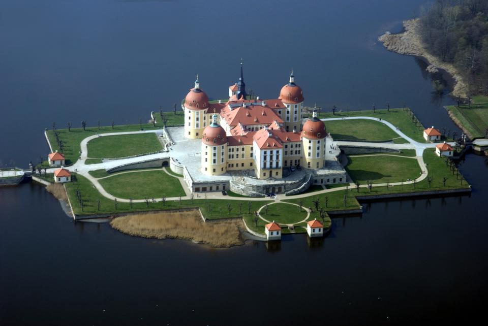 Free Aerial View Moritzburg Castle Saxony