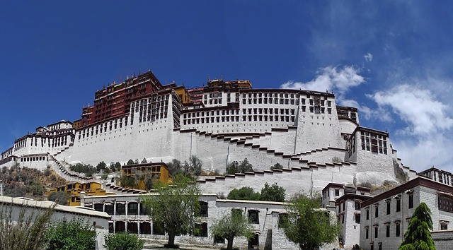 Free tibet potala palace buildings architecture scenic