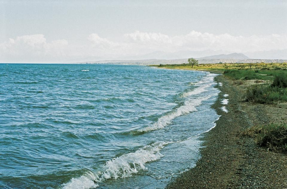 Free Lake Issyk-kul . Kyrgyzstan