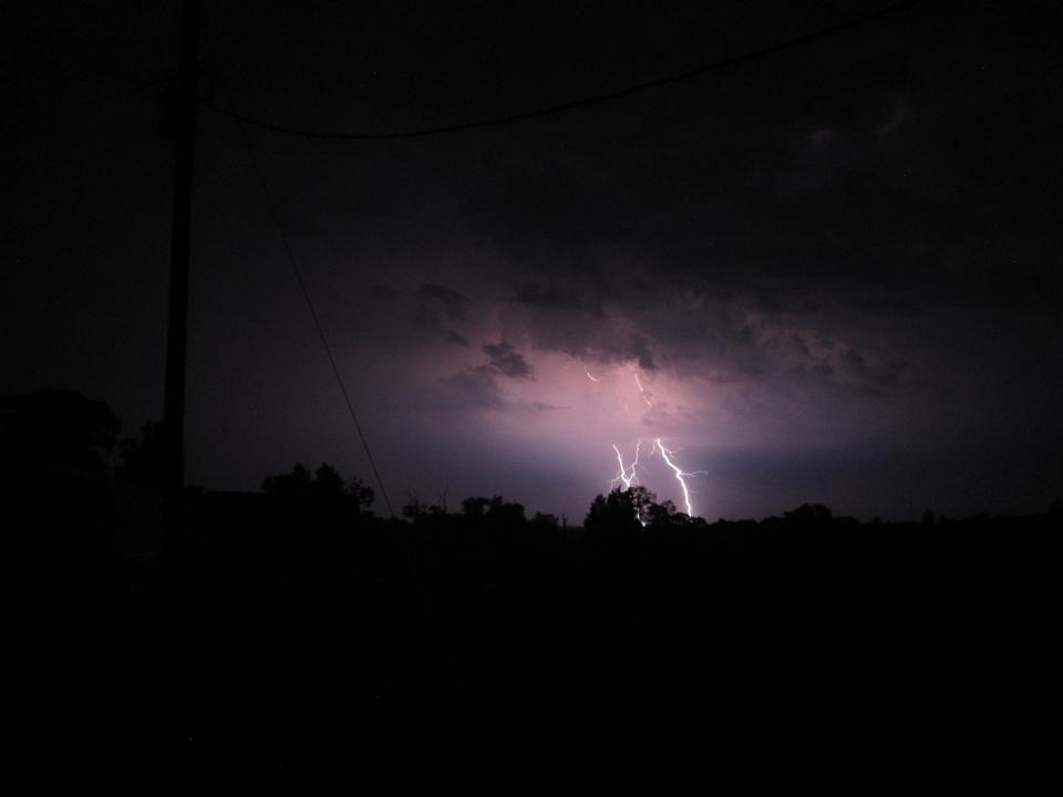 Free Photos: Huge bolt of lightning hits small town | nightrider