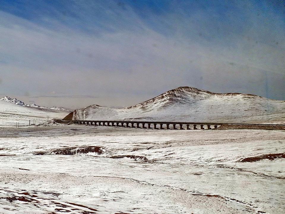 Free Train railway in Lhasa, Tibet