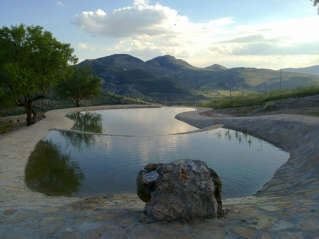 Free granada spain mountains scenic landscape pool
