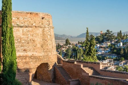 Free Alhambra at sunset, Granada, Spain