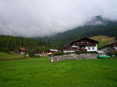Free Alps village on a mountain