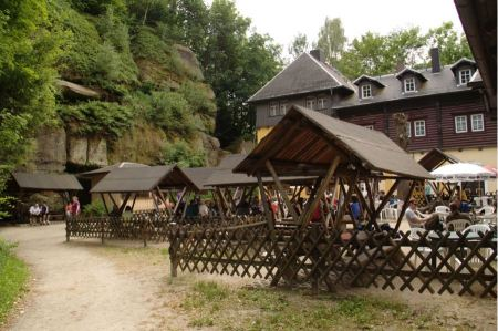 Free Pravcicka brana natural gate in the Czech-Saxon Switzerland