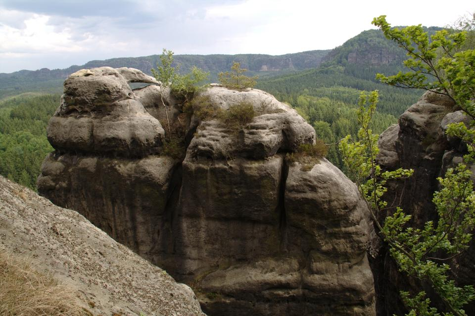 Free Pravcicka brana natural gate in the Czech-Saxon Switzerland