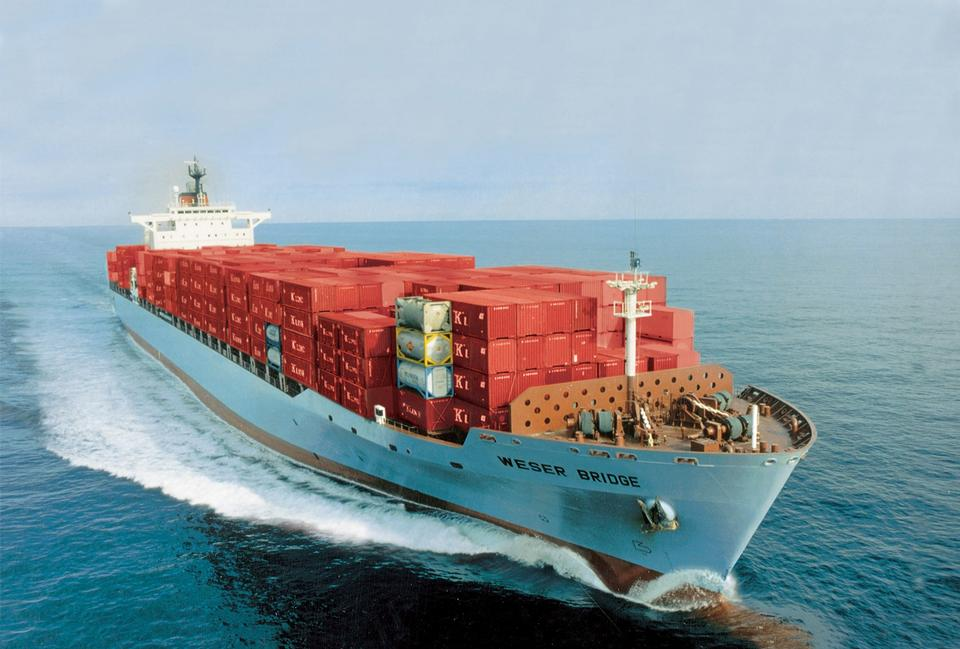 Free Cargo container ship sailing