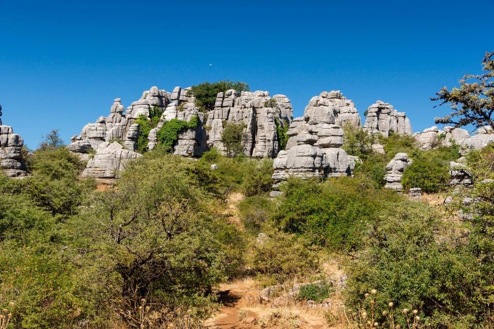 Free Karst in El Torcal de Antequera, Andalusia, Spain