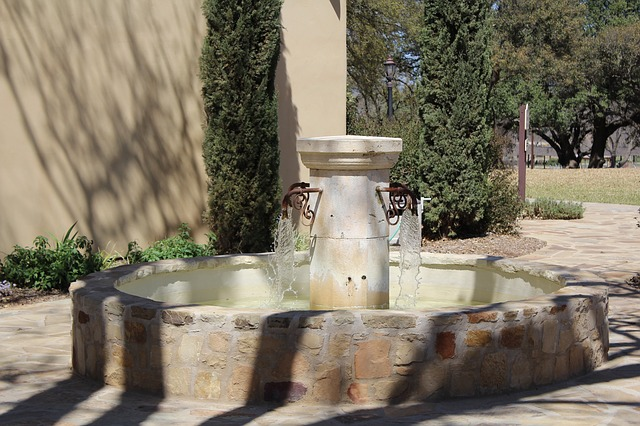 Free water fountain winery texas