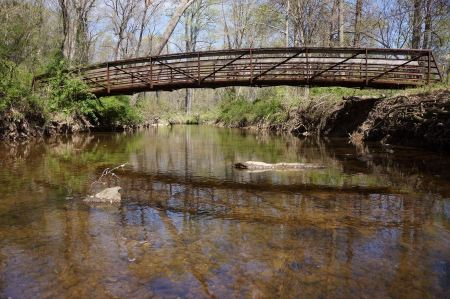 Free Old bridge in the park in the spring time