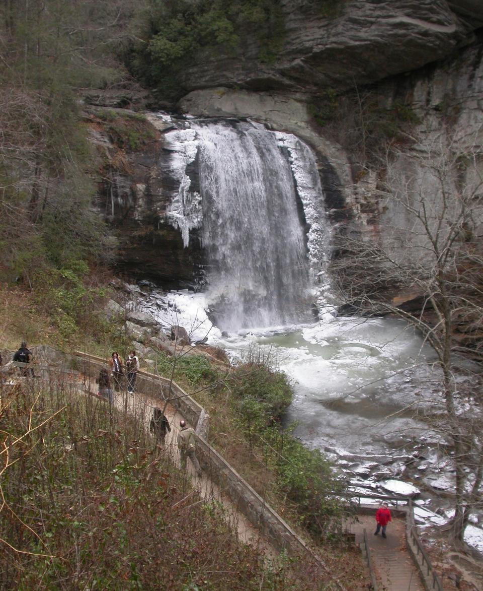 Free Glass Falls in the Pisgah National Forest