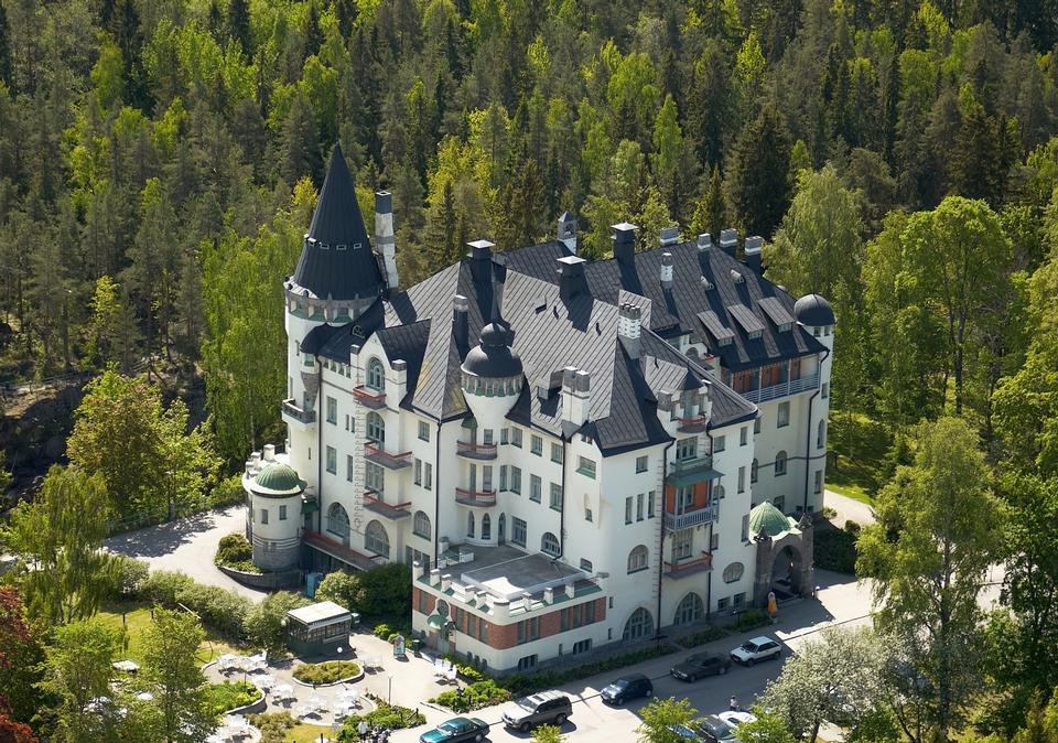 Free Aerial View Castle Imatran Valtionhotelli.Finland.
