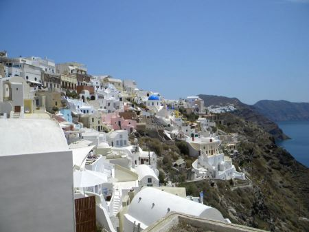 Free Firostefani, village in Santorini, Greece