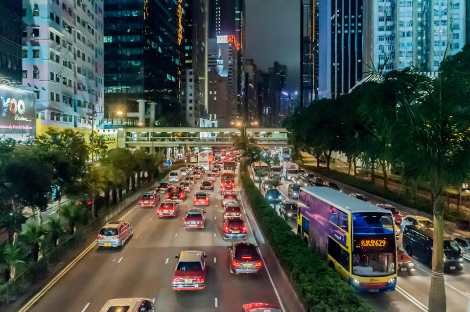Free Public transport on the street in Hong Kong