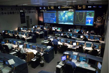 Free Flight Control Room Lyndon B. Johnson Space Center in Houston