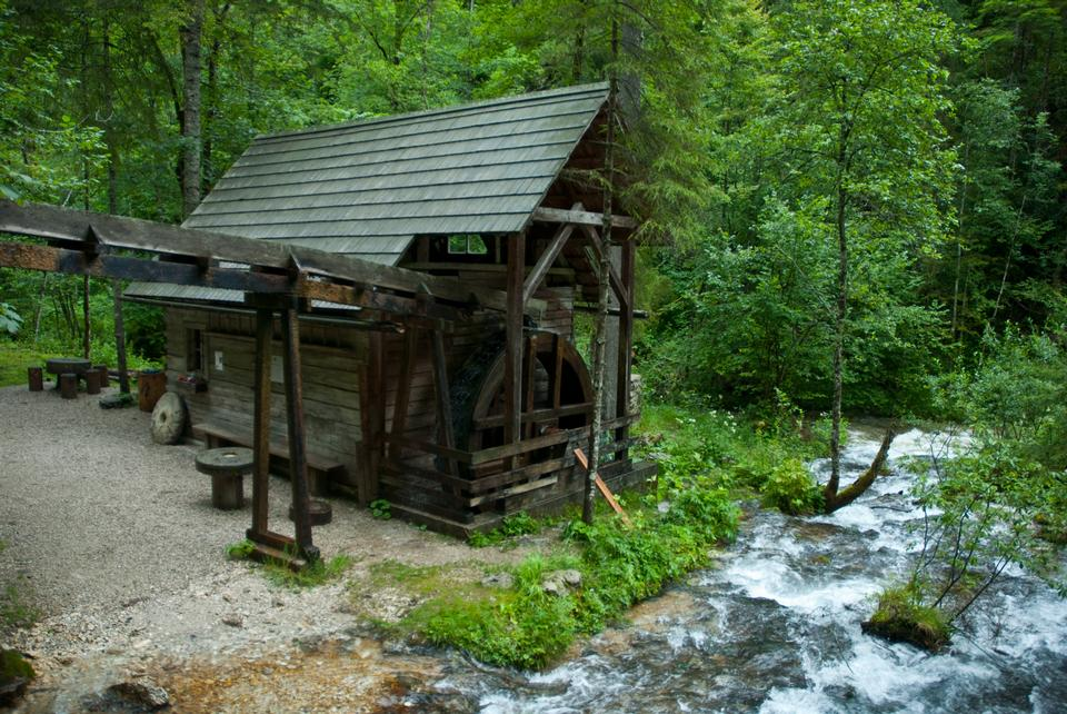 Free Water mill and small water fall in Germany