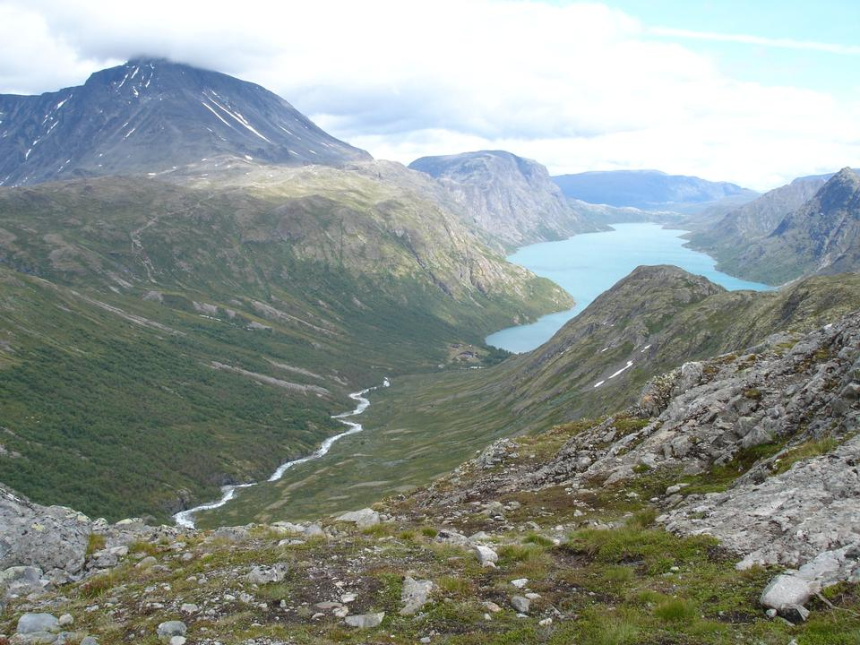 Free Lake Gjende in Jotunheimen, Norway