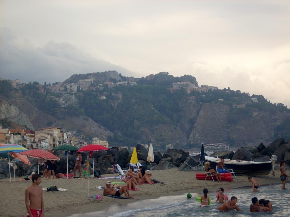 Free Beach in Giardini Naxos, Sicily