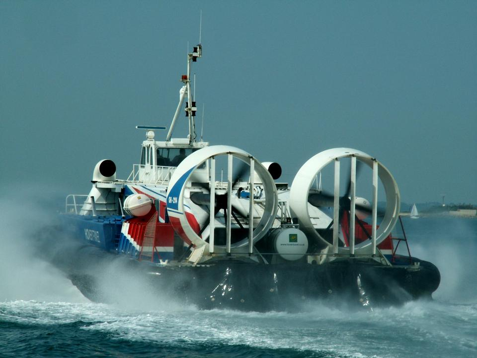 Free Photos: Hovercraft turning for departure on a beach, Southsea, UK | airplot74
