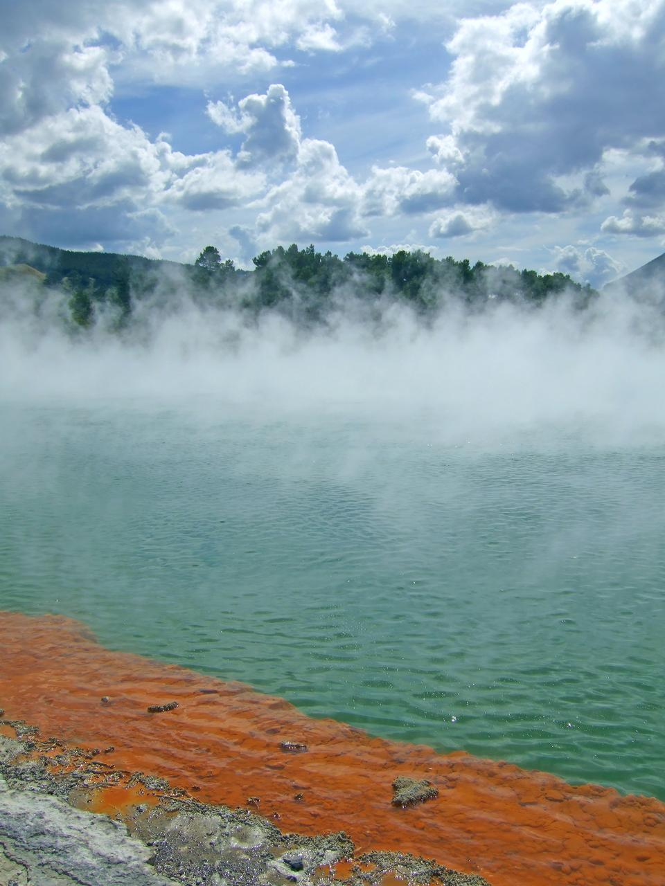 Free Detail of blue geothermal pond in New Zealand.