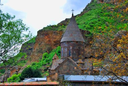 Free Monastery of Geghard in Armenia