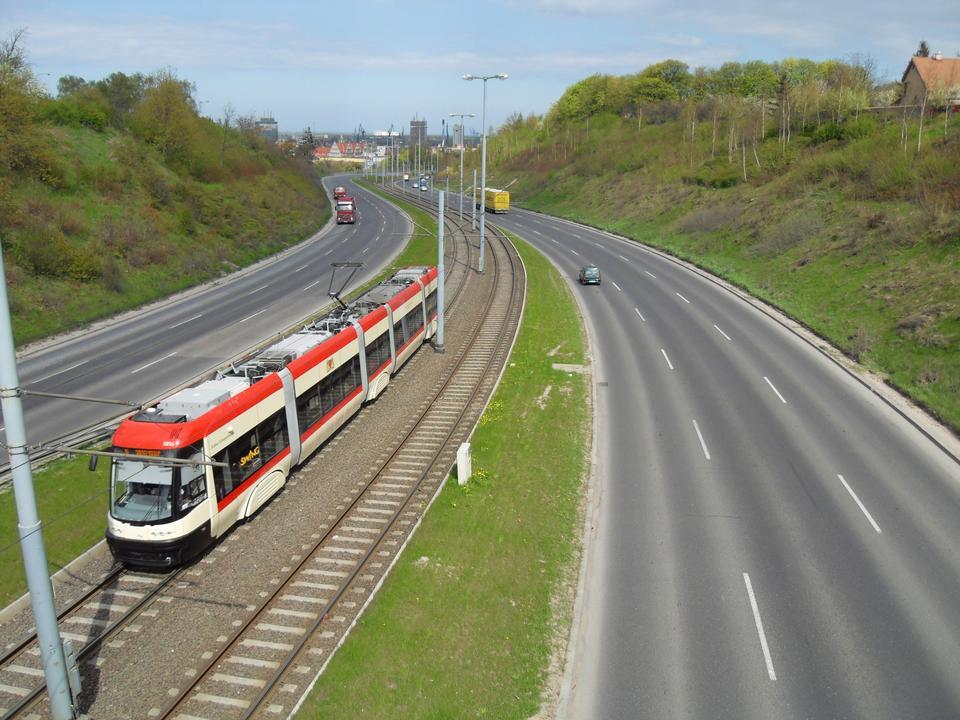 Free Tram, streetcar in Gdansk, Poland