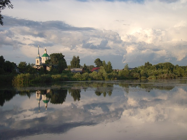Free kiovo russia scenic sky clouds forest trees