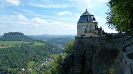 Free fortress koenigstein in saxony, germany