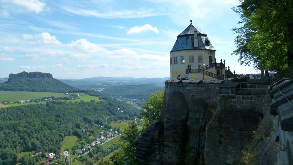 Free fortress koenigstein in saxony, germany