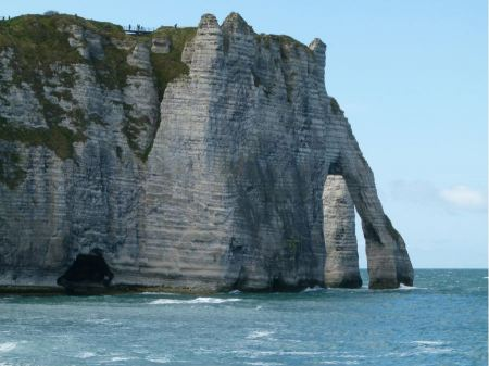 Free Chalk cliffs at Cote d'Albatre. Etretat