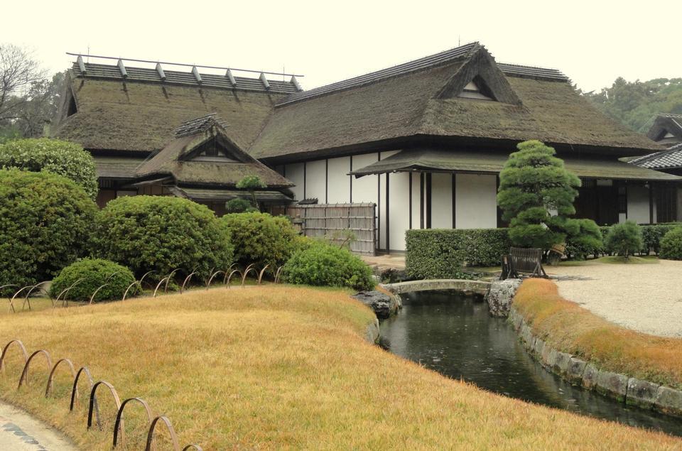 Free Enyo-tei House at Korakue-en garden in Okayama