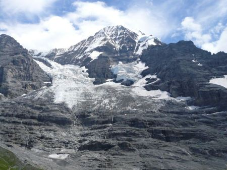 Free North face of Eiger mountain in the Jungfrau region