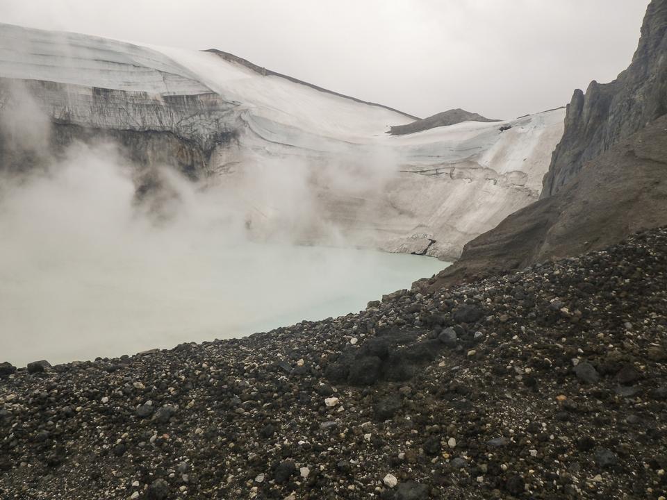 Free Copahue volcano crater, Copahue provincial Park