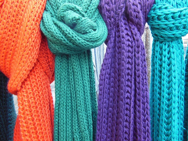Free scarves knitted knitted scarves close-up